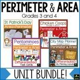 Area & Perimeter Differentiated Bundle (3rd & 4th)
