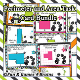 Area & Perimeter BUNDLE - Panda themed Area&Perimeter Bash