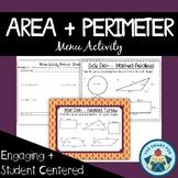 Area & Perimeter, Composite Figures, Shaded Region + Missing Sides Menu Activity