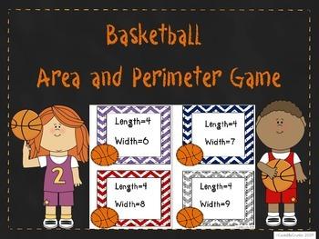 Area Perimeter Basketball Game Common Core Aligned