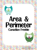 Area & Perimeter Canadian Freebie