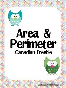 Area & Perimeter Canadian Freebie