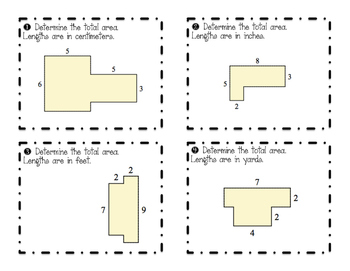 Area & Perimeter Challenge Task Cards