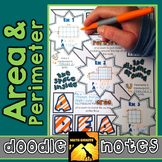 Area & Perimeter Doodle Notes