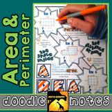 Area & Perimeter Doodle Notes