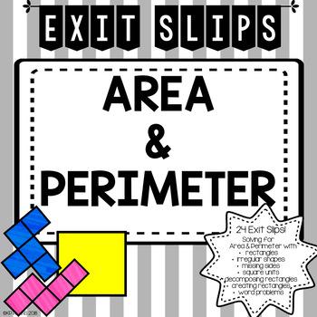 Area & Perimeter Exit Slips