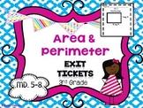Area & Perimeter Exit Tickets