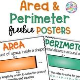 Area & Perimeter FREEBIE Posters