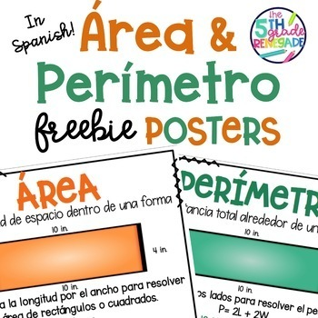 Area & Perimeter FREEBIE Posters in Spanish  área perímetro