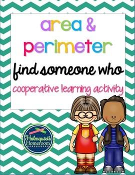 Area & Perimeter - Find Someone Who