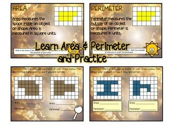 Area & Perimeter Flipchart