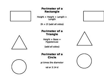 Area Perimeter Foldable