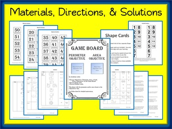 Area and Perimeter Game: A Differentiated Game for Area & Perimeter - All Shapes