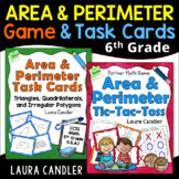 Area and Perimeter Game with 6th Grade CCSS Task Cards Bundle