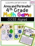 Area/ Perimeter Grade 4 Math Game CCSS