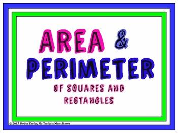 Area & Perimeter- 4th & 5th Grade