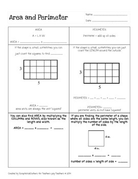 Area & Perimeter Introduction