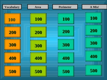 Area & Perimeter Jeopardy