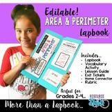 Area & Perimeter Lapbook {EDITABLE} Activities & MORE