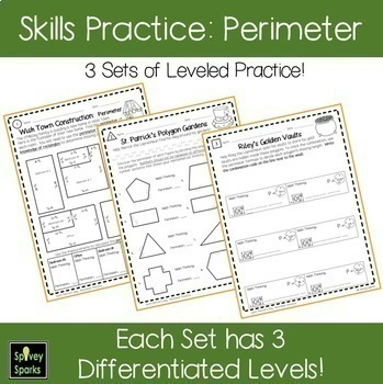 St. Patrick's Day Leprechaun Area and Perimeter Worksheets