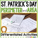 Area and Perimeter Worksheets St. Patrick's Day Math