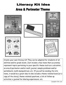 Area & Perimeter Literacy Kit Idea