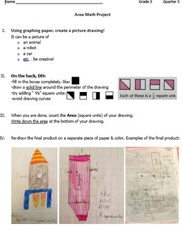 Area & Perimeter Math Art Project