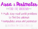 Area & Perimeter - Missing Factor