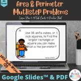 Area & Perimeter Multi-Step Problems