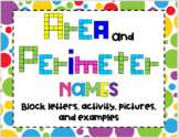 Area & Perimeter Name Activity SET