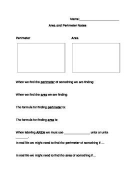 Area & Perimeter Notes
