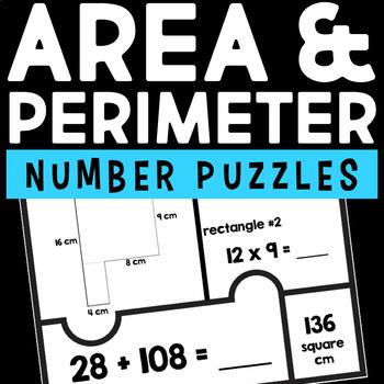 Area & Perimeter Number Puzzles