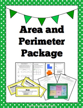 Area & Perimeter Package: Activities, Worksheets, Word Wall, and more...
