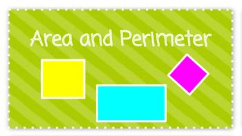 Area & Perimeter Powerpoint & Activity