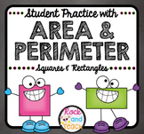 MATH REVIEW: Area & Perimeter Practice with Squares and Re