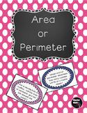 Area & Perimeter Prompts 3.MD.C.7  3.MD.D.8