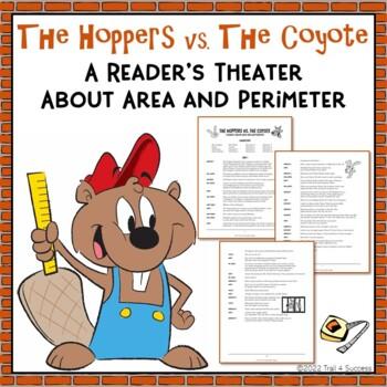 "Area Perimeter Play Reader's Theater + Worksheet ""The Hopp"