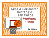 Area & Perimeter Rectangles Task Cards