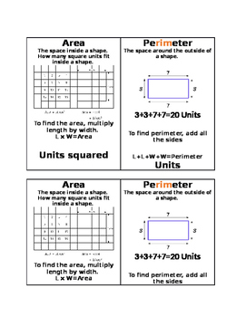 Area & Perimeter Resource
