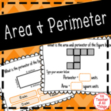 Area & Perimeter Boom Cards Distance Learning SOL 3.8