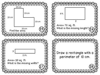 Area & Perimeter Scoot Game {Task Cards}