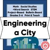Engineering A City: Area, Perimeter, Social Studies, STEM, Grades 3-6