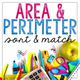 Area & Perimeter Matching Game