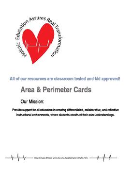 Area & Perimeter Sorting Cards