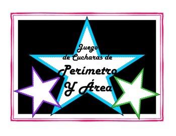 Area & Perimeter Spoons Game-Spanish