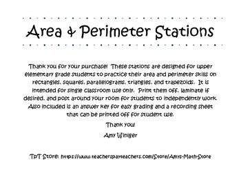 Area & Perimeter Stations
