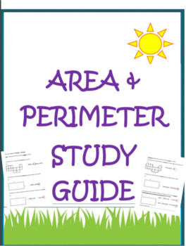 Area- Perimeter Study Guide