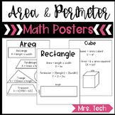Area, Perimeter, Surface Area & Volume Posters