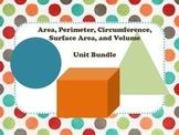 Area Perimeter Surface Area and Volume Measurement Unit