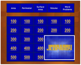 Area, Perimeter, Surface Area, and Volume Review Jeopardy® Game